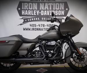 black and white, motorcycle, and harley davidson image
