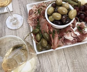 drinks, food, and olives image
