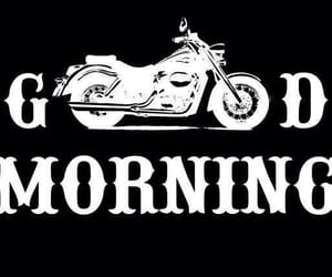 black and white, good morning, and motorcycle image