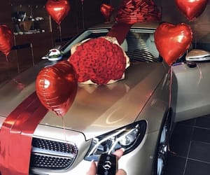balloons, gift, and range rover image