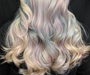 hairdye, coloredhair, and rainbowhair image