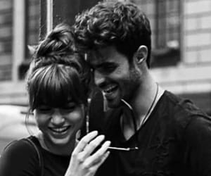 black and white, couple, and happy image