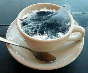 sea, ocean, and cup image