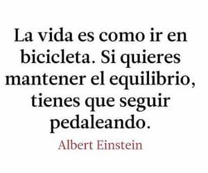 Albert Einstein, bicicleta, and vida image