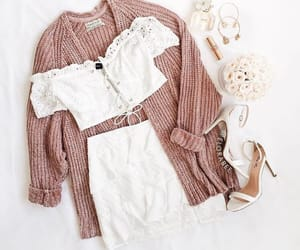 fashion, inspiration, and pink cardigan image