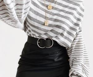 black skirt, inspiration, and jumper image