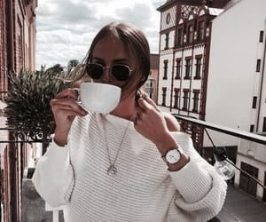 fashion, coffee, and girl image