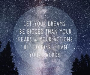 quotes, Dream, and stars image