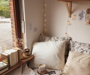 home, cozy, and book image