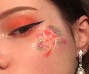 aesthetics, makeup, and orange image