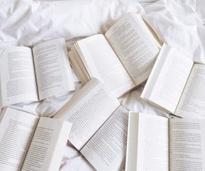 book, white, and reading image