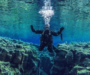 diving and iceland image