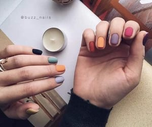 colores, matte, and nails image