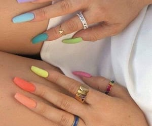 colores, moda, and nails image