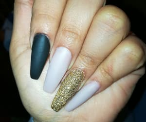 nails, black, and coffin image