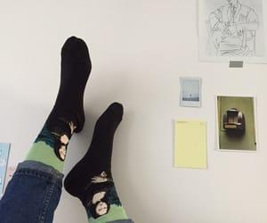 socks, art, and pale image