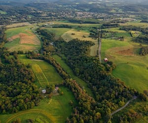 aerial photography, countryside, and pennsylvania image