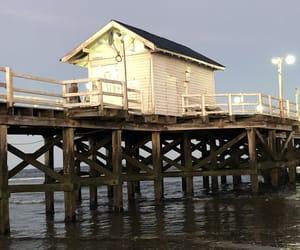 cottage, dock, and lights image