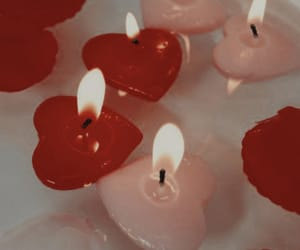 hearts, candle, and aesthetic image