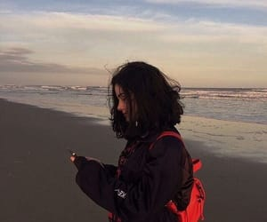 girl, beach, and aesthetic image