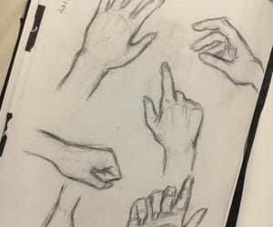 drawing, hands, and sketch image