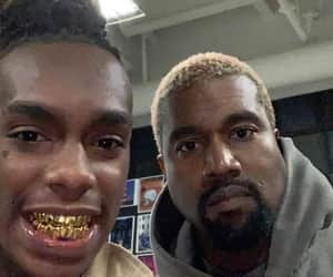kanye west, ynw melly, and rapper image