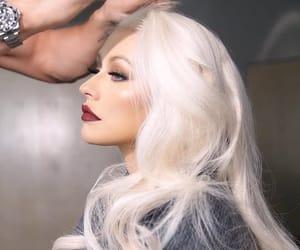 christina aguilera, makeup, and platinum image