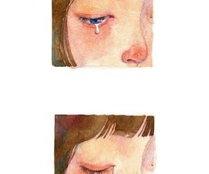 art, crying, and girl image