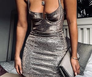 bustier, glitter dress, and pinterest image