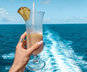 cruise, drink, and food image