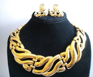 etsy, statement jewelry, and vintage jewelry set image