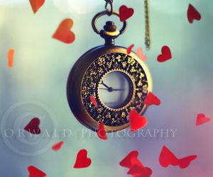hearts, time, and love image