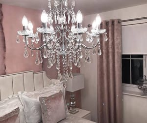 chandelier, home, and decor image