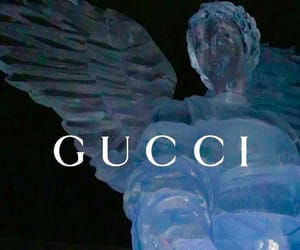 gucci, angel, and blue image
