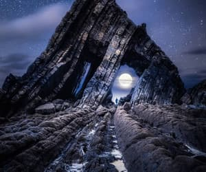 landscape, moon, and night image