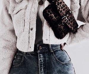 coat, denim, and style image