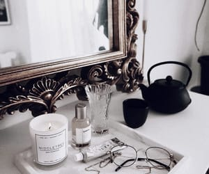 candle, cosmetics, and decor image