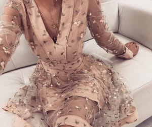 beige, lipstick, and dress image