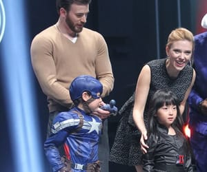 black widow, captain america, and chris evans image