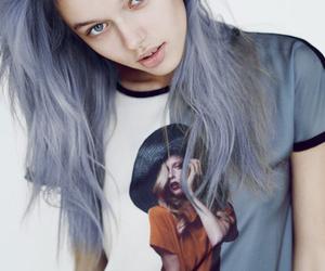 beautiful, grey hair, and grunge image
