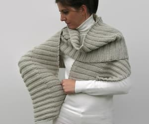 etsy, chunky scarf, and light gray image