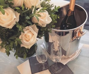 champagne and roses image
