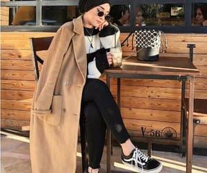 camel coat hijab image