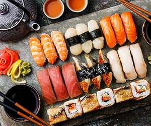 japanese food, asian food, and japanese table manners image