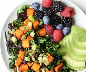 recipes, salad, and vegan image