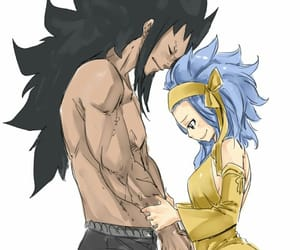 anime, levy, and gajeel image