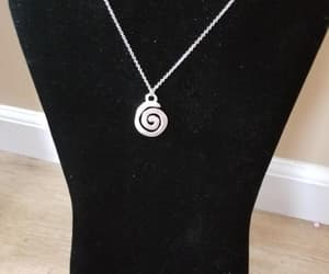boho, silver necklace, and silvernecklace image
