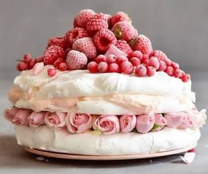 berries, pink, and patisserie image