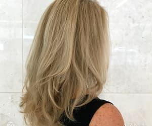 blonde, haircolor, and hairsalon image