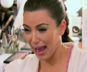 kim kardashian, crying, and funny image